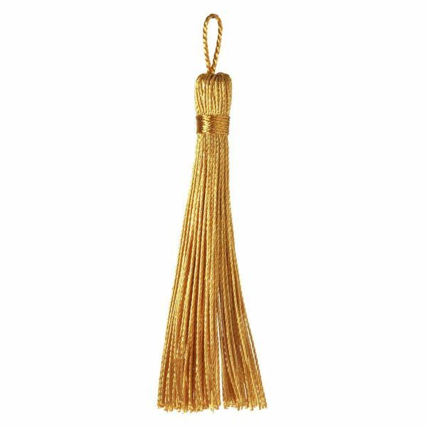 Picture of Cord Band Tassel Gold cm 8 (3,1 inch) Metallic thread and Viscose for liturgical Vestments