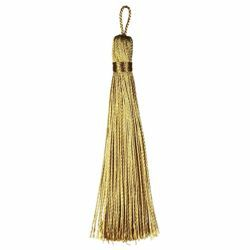 Picture of Cord Band Tassel Gold cm 10 (3,9 inch) Metallic thread and Viscose for liturgical Vestments