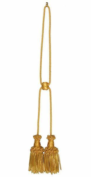 Immagine di Cordoniera oro canuttiglia a 2 fiocchi in filato metallico e Viscosa per Stola liturgica