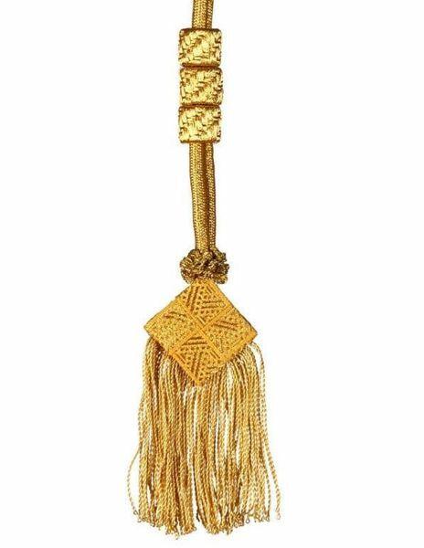 Immagine di Cordoniera quadro frangia metallica in filato metallico per Croce Pettorale