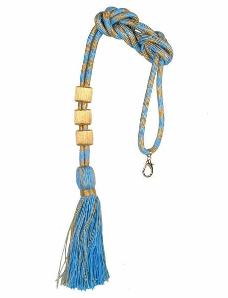 Picture of Cord Tassel with gold and color tassel 3 pass-through Cotton blend Celestial for pectoral Cross