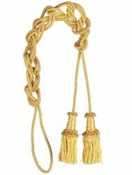 Picture of Cord Tassel 2 Tassels Metallic thread and Viscose for Banners and liturgical Vestments