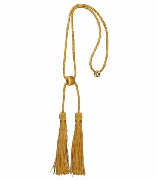 Picture of Cord Tassel twisted gold 2 Tassels Metallic thread and Viscose for liturgical Stole