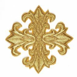 Picture of Embroidered Cross Motif H. cm 8 (3,1 inch) Metallic thread and Viscose for Chasubles and liturgical Vestments