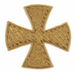 Picture of Embroidered Bullion Crosses H. cm 6 (2,4 inch) Metallic thread for Chasubles and liturgical Vestments