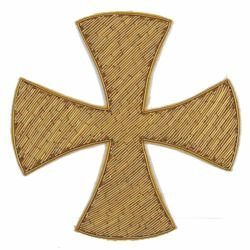 Picture of Embroidered Bullion Crosses H. cm 11 (4,3 inch) Metallic thread for Chasubles and liturgical Vestments