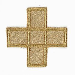 Picture of Embroidered small Cross Motif H. cm 5 (2,0 inch) Pure Polyester Fabric for Chasubles and liturgical Vestments
