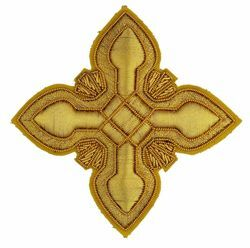 Picture of Embroidered Cross Ramino Motif Gold embroidery H. cm 7,5 (2,95 inch) Metallic thread and Viscose Gold for Chasubles and liturgical Vestments