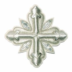 Picture of Embroidered Cross Ramino Motif with paillettes Gold embroidery H. cm 10 (3.9 inch) Metallic thread and Viscose Gold Silver Red/Crimson for Chasubles and liturgical Vestments