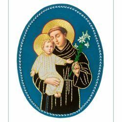 Immagine di Emblema ricamato decorazione San Giuseppe H. cm 27 (10,6 inch) in Poliestere per Velo Omerale e Paramenti liturgici