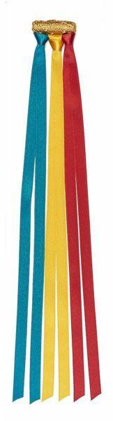 Imagen de Marcadores de Página con 6 bandas de colores con oliva dorada L. cm 30 (11,8 inch) de Poliéster y Acetato Marcapágina para Misal Biblia y Textos Sagrados