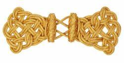 Immagine di Gancio Alamaro oro battipanni Viscosa Poliestere per Piviale Cotta Mantelli e Paramenti sacri