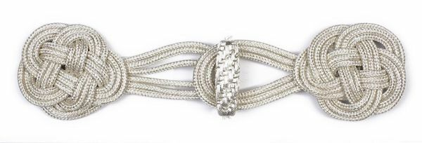 Picture of Cope Clasp Silver Acetate and Viscose for Cope Pluviale Surplice Cloak and liturgical Vestments