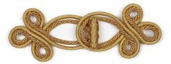 Picture of Cope Clasp golden flower Acetate and Viscose for Cope Pluviale Surplice Cloak and liturgical Vestments