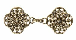 Picture of Cope Clasp antique Gold Zamak Old Gold for Cope Pluviale Surplice Cloak and liturgical Vestments