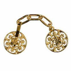 Immagine di Gancio Alamaro piccolo oro in metallo per Piviale Cotta Mantelli e Paramenti sacri