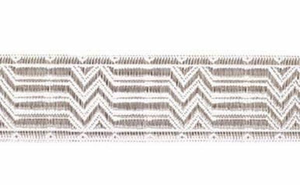 Immagine di Gallone argento Bastoni rotti H. cm 3 (1,2 inch) misto Cotone Tessuto per Paramenti liturgici