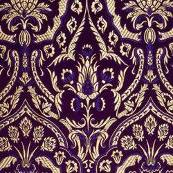 Immagine di Lampasso Cardo H. cm 160 (63 inch) Lurex Rosso Giallo Oro Viola Bianco Tessuto per Paramenti liturgici
