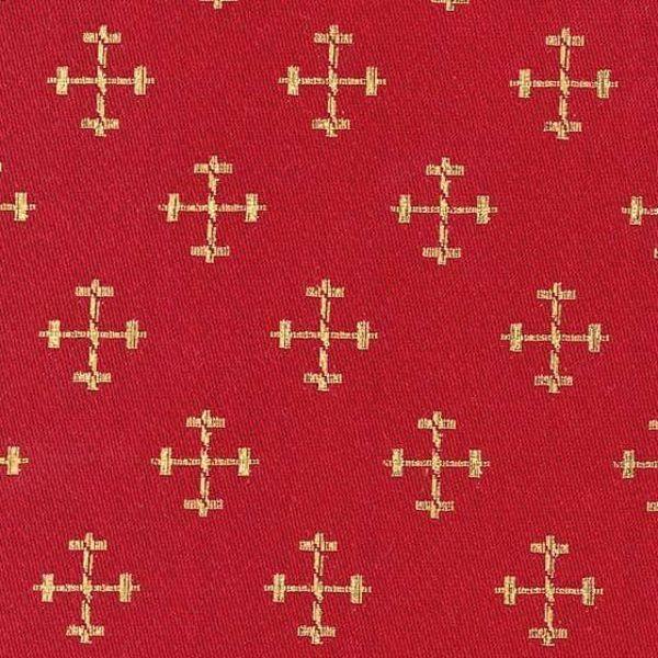 Imagen de Broderie Cruces pequeñas H. cm 160 (63 inch) Tejido bordado Acetato Poliéster Rojo Verde Oliva Oro Amarillo Morado Blanco Leche para Vestiduras litúrgicas