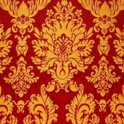 Picture of Brocade Large St. Satyr H. cm 160 (63 inch) Polyester Acetate Fabric Red Yellow Gold Violet White for liturgical Vestments