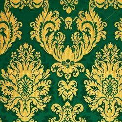 Picture of Brocade St. Satyr gold H. cm 160 (63 inch) Polyester Acetate Fabric Red Celestial Yellow Gold Violet Green Flag for liturgical Vestments