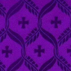 Picture of Damask Cross Olive Wheat H. cm 160 (63 inch) Acetate Fabric Red Celestial Olive Green Violet for liturgical Vestments