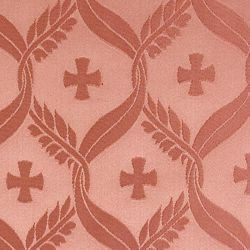 Picture of Damask Cross Olive Wheat H. cm 160 (63 inch) Acetate Fabric Ivory Black Pink for liturgical Vestments