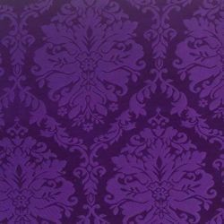 Picture of Damask St. Satyr H. cm 160 (63 inch) Acetate Fabric Violet Ivory Black White Pink for liturgical Vestments