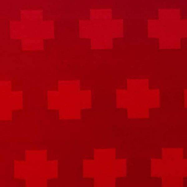 39d78a2698 Damasco campo crociato H. cm 160 (63 inch) Acetato Rosso Verde Viola Avorio  Tessuto per Paramenti liturgici