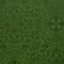 Picture of Damask Byzantium H. cm 160 (63 inch) Acetate Fabric Red Olive Green Violet Ivory for liturgical Vestments
