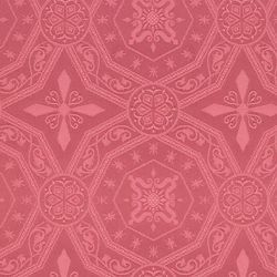 Picture of Damask Cross Star H. cm 160 (63 inch) Acetate Fabric Ivory White Pink for liturgical Vestments