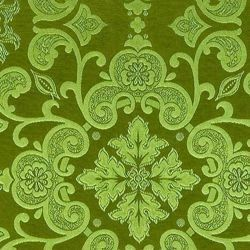 Picture of Filigree Damask Capital H. cm 160 (63 inch) Acetate Viscose Fabric Red Olive Green Violet Ivory for liturgical Vestments