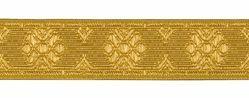 Imagen de Galón Hilo dorado H. cm 3 (1,2 inch) Tejido mezcla Algodón Amarillo para Vestiduras litúrgicas