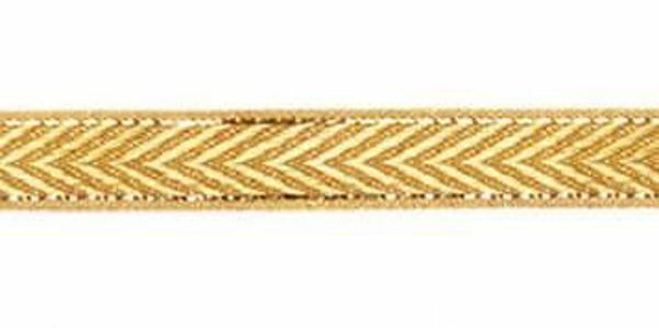Picture of Galloon Isernia gold H. cm 1,5 (0,6 inch) Metallic thread Fabric Trim Orphrey Banding for liturgical Vestments
