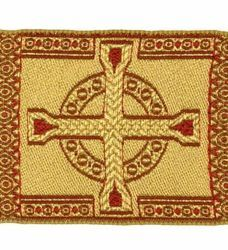 Picture of Galloon Golden Thread Cross H. cm 9 (3,5 inch) Cotton blend Fabric Trim Orphrey Banding for liturgical Vestments