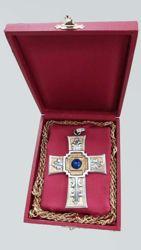Imagen de Estuche rígido para Cruz Pectoral Funda acolchada de Satén rojo