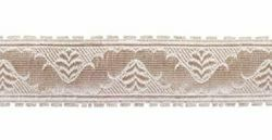 Picture of Galloon Silver ribbon H. cm 3 (1,2 inch) Metallic thread Fabric high content of Silver Trim Orphrey Banding for liturgical Vestments