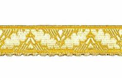 Picture of Galloon Golden Thread H. cm 1,5 (0,6 inch) Cotton blend Fabric Yellow Trim Orphrey Banding for liturgical Vestments