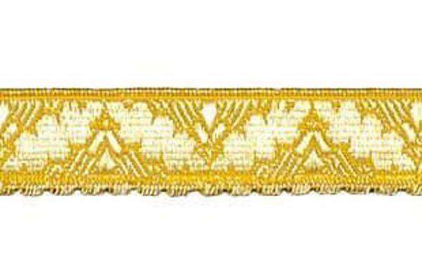 Imagen de Galón Cinta dorada H. cm 2 (0,8 inch) Tejido en hilo metálico alto contenido Oro para Vestiduras litúrgicas