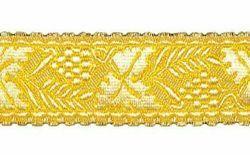 Imagen de Galón Uva Trigo oro H. cm 4 (1,6 inch) Tejido en hilo metálico alto contenido Oro para Vestiduras litúrgicas