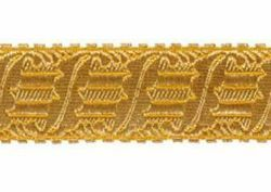 Imagen de Galón Arpa oro H. cm 3,5 (1,4 inch) Tejido en hilo metálico alto contenido Oro para Vestiduras litúrgicas
