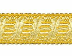 Picture of Galloon Gold Harp H. cm 4 (1,6 inch) Metallic thread Fabric high content of Gold Trim Orphrey Banding for liturgical Vestments