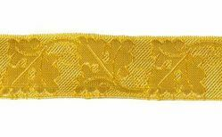 Picture of Galloon Gold Oak H. cm 3 (1,2 inch) Metallic thread Fabric high content of Gold Trim Orphrey Banding for liturgical Vestments