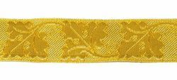 Imagen de Galón Roble oro H. cm 4 (1,6 inch) Tejido en hilo metálico alto contenido Oro para Vestiduras litúrgicas