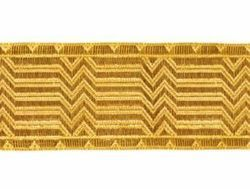 Picture of Galloon Gold Broken Sticks H. cm 4 (1,6 inch) Cotton blend Fabric Trim Orphrey Banding for liturgical Vestments