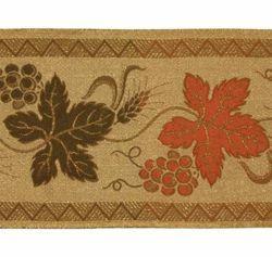 Immagine di Stolone oro sablè Foglie di Spighe H. cm 18 (7,1 inch) misto Cotone Tessuto per Paramenti liturgici