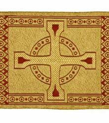 Immagine di Stolone Croci filo oro Alta Doratura H. cm 18 (7,1 inch) misto Cotone Tessuto per Paramenti liturgici