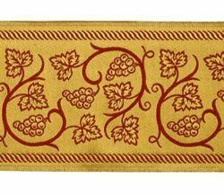 Immagine di Stolone Tralci d' Uva filo oro Alta Doratura H. cm 18 (7,1 inch) misto Cotone Tessuto per Paramenti liturgici
