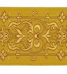 Immagine di Stolone filo oro Alta Doratura H. cm 18 (7,1 inch) filato metallico Seta per Paramenti Liturgici Tessuto per Paramenti liturgici