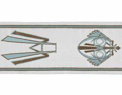 Immagine di Stolone Mariano oro bianco H. cm 18 (7,1 inch) Lurex Bianco Tessuto per Paramenti liturgici